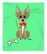 Geo Chihuahua Fleece Blanket