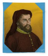 Geoffrey Chaucer, Father Of English Fleece Blanket
