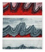 Geologic Crumpling Fleece Blanket