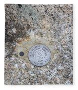 Geological Marker Fleece Blanket
