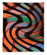 Geometrical Colors And Shapes 2 Fleece Blanket