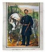 George B. Mcclellan, 1864 Fleece Blanket