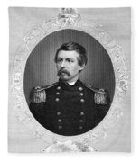 George Brinton Mcclellan Fleece Blanket