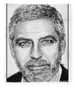 George Clooney In 2009 Fleece Blanket