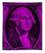 George Washington In Purple Fleece Blanket