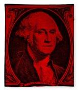 George Washington In Red Fleece Blanket