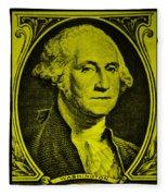 George Washington In Yellow Fleece Blanket