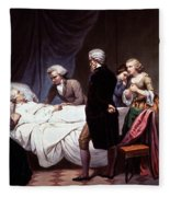 George Washington On His Death Bed Fleece Blanket