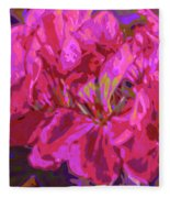 Geranium Pop Fleece Blanket
