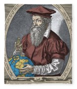 Gerardus Mercator, Flemish Cartographer Fleece Blanket