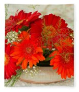 Gerbera Daisies Fleece Blanket