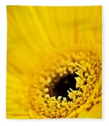 Gerbera Flower Fleece Blanket