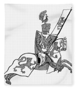 German Knight Fleece Blanket
