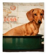 Get Your Hot Dogs Fleece Blanket