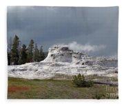 Geyser In Yellowstone Fleece Blanket