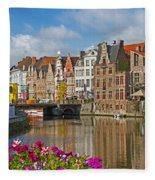 Ghent  Belgium Fleece Blanket