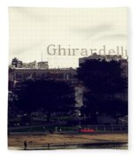 Ghirardelli Square Fleece Blanket
