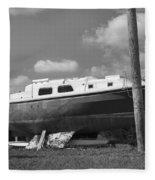 Ghost Crab Boat Fleece Blanket