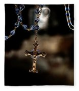 Ghost Of A Rosary Fleece Blanket