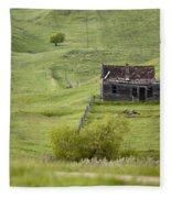 Ghost Town Galilee Saskatchewan Fleece Blanket