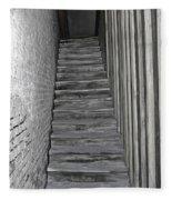 Ghost Town Stairs Bodie California Fleece Blanket