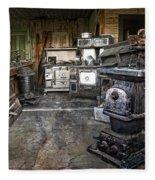 Ghost Town Stove Storage - Montana State Fleece Blanket