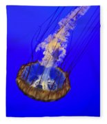 Ghostly Jellyfish Fleece Blanket