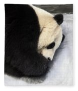 Giant Panda Portrait Fleece Blanket