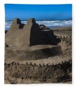 Giant Sand Castle Fleece Blanket