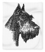 Giant-schnauzer-portrait Fleece Blanket