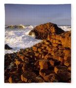 Giants Causeway, County Antrim, Ireland Fleece Blanket