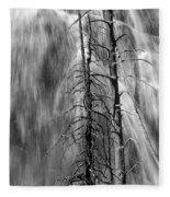 Gibbons Falls In Yellowstone National Park Fleece Blanket