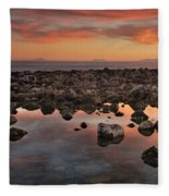 Gibraltar And Africa And Spain In One Shot From Marbella Fleece Blanket