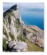 Gibraltar Rock And Mediterranean Sea Fleece Blanket