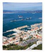 Gibraltar Town And Bay Fleece Blanket