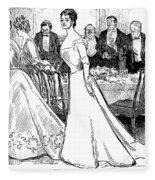 Gibson: After-dinner, 1899 Fleece Blanket