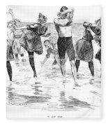 Gibson: Bathing, 1892 Fleece Blanket