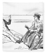 Gibson: Beach, 1900 Fleece Blanket