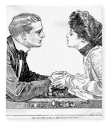 Chess Game, 1903 Fleece Blanket