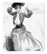 Gibson: Gibson Girl, 1904 Fleece Blanket