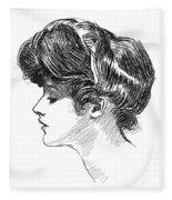 Gibson: Gibson Girl, C1904 Fleece Blanket