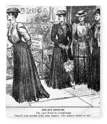 Gibson Girl, 1890s Fleece Blanket