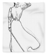 Gibson Girl, 1899 Fleece Blanket