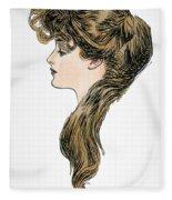 Gibson Girl, 1903 Fleece Blanket