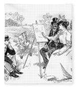 Gibson: Painting, 1901 Fleece Blanket
