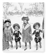 Gibson: Race Suicide, 1903 Fleece Blanket