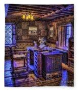 Gillette Castle Office Hdr Fleece Blanket