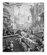 Gin Lane, William Hogarth Fleece Blanket