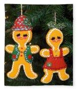 Gingerbread Couple Fleece Blanket