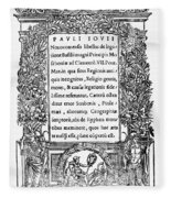 Giovio: Title Page, 1525 Fleece Blanket